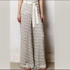 ELEVENSES Saunter Wide Leg Palazzo Pants Belted 8